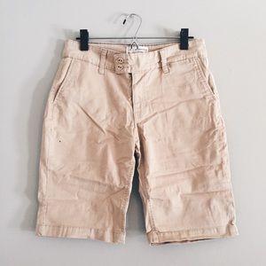 Levi Strauss tan khaki Bermuda shorts 8/10 28/29